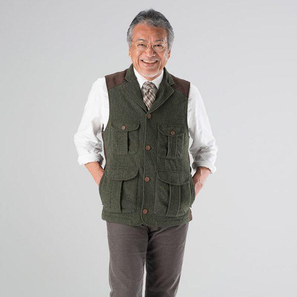 山晴社_ウールフィールダーベスト